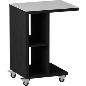 Журнальный стол MetalDesign Смарт MD 741.01.11 корпус-черный/ стекло-белый