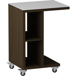 Журнальный стол MetalDesign Смарт MD 741.02.11 корпус-венге/ стекло-белый