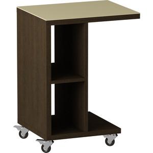 Журнальный стол MetalDesign Смарт MD 741.02.10 корпус-венге/ стекло-крем