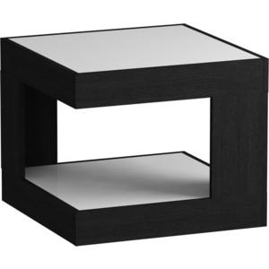 Журнальный стол MetalDesign Смарт MD 746.01.11 корпус-черный/ стекло-белый