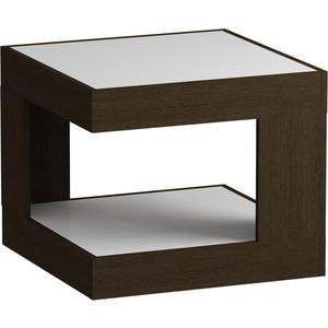 Журнальный стол MetalDesign Смарт MD 746.02.11 корпус-венге/ стекло-белый