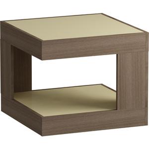 Журнальный стол MetalDesign Смарт MD 746.04.10 корпус-ясень темный/ стекло-крем