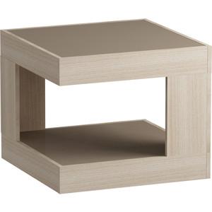 Журнальный стол MetalDesign Смарт MD 746.05.04 корпус-ясень светлый/ стекло-ясень шимо стол обеденный rinner прямая ясень шимо светлый