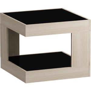 Журнальный стол MetalDesign Смарт MD 746.05.01 корпус-ясень светлый/ стекло-черный