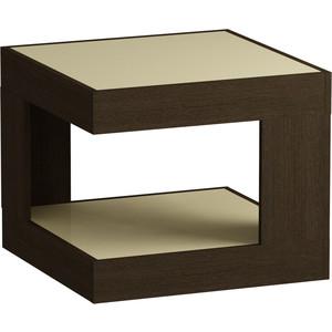 Журнальный стол MetalDesign Смарт MD 746.02.10 корпус-венге/ стекло-крем