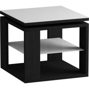 Журнальный стол MetalDesign Смарт MD 747.01.11 корпус-черный/ стекло-,белый