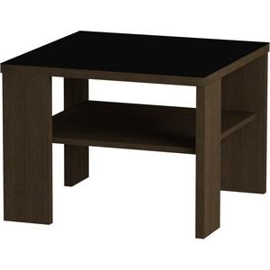 Журнальный стол MetalDesign Смарт MD 734.02.01 корпус-венге/ стекло-черн подставка для телевизора metaldesign 527 черн дымч