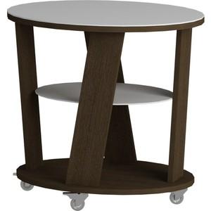 Журнальный стол MetalDesign Смарт MD 736.02.11 корпус-венге/ стекло-белый