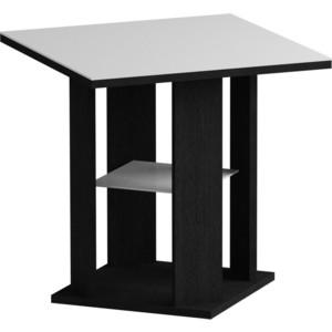 Журнальный стол MetalDesign Смарт MD 748.01.11 корпус-черный/ стекло-белый