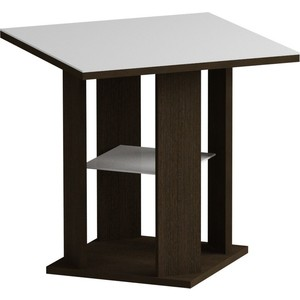 Журнальный стол MetalDesign Смарт MD 748.02.11 корпус-венге/ стекло-белый