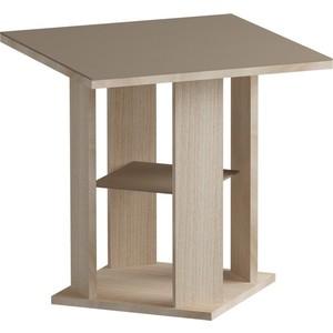 Журнальный стол MetalDesign Смарт MD 748.05.04 корпус-ясень светлый/ стекло-ясень шимо стол обеденный rinner прямая ясень шимо светлый