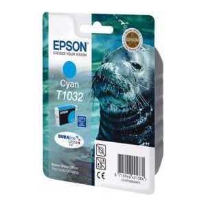 Картридж Epson C13T10324A10 картридж экстраповышенной емкости с голубыми чернилами t1032 c13t10324a10