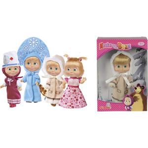 Игровой набор Simba Маша, 4 вида: снегурочка, день рождения, эскимоска, врач, 12 см, 6/72 (9301680)