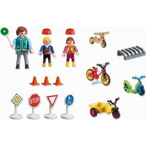Игровой набор Playmobil Детский сад: Дети с воспитателем по ПДД (5571pm)