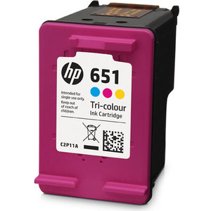 Картридж HP №651 tri-colour (C2P11AE) картридж hp c2p11ae 651 для deskjet ink advantage 5645 5575 цветной 300 страниц