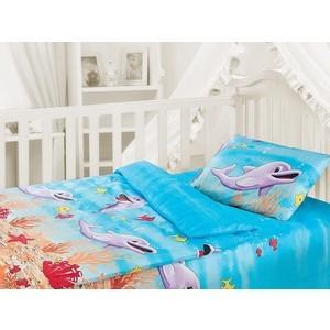Комплект постельного белья Облачко Дельфин в детскую