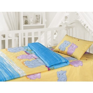 Комплект постельного белья Облачко ''Слоники'' в детскую кроватку (157589)