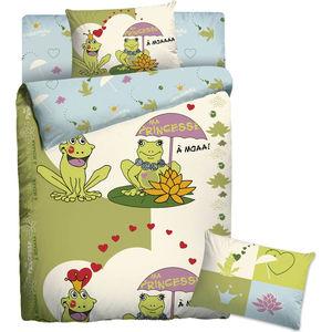 Детское полутороспальное постельное белье Мармелад ''Веселые Лягушки'' с наволочкой 70х70 (181884)