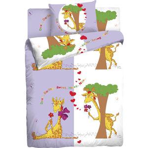 Детское полутороспальное постельное белье Мармелад ''Влюбленные Жирафы'' с наволочкой 70х70 (181886)