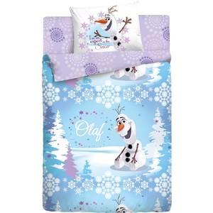 Фотография товара детское полутороспальное постельное белье Disney Холодное Сердце ''Олаф Зима'' с наволочкой 70х70 (186496) (473836)