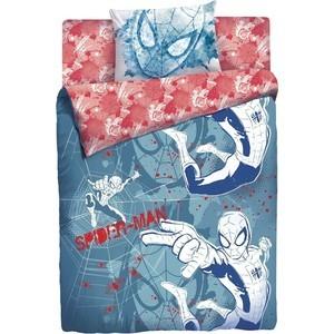 Детское полутороспальное постельное белье MARVEL Человек Паук ''Граффити'' с наволочкой 50х70 (180567)