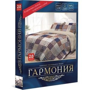 Комплект постельного белья Гармония 2-х сп, поплин, Пэчворк с наволочками 70x70 (193253) от ТЕХПОРТ