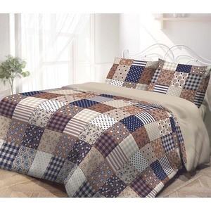 Комплект постельного белья Гармония Евро, поплин, Пэчворк с наволочками 70x70 (193255)