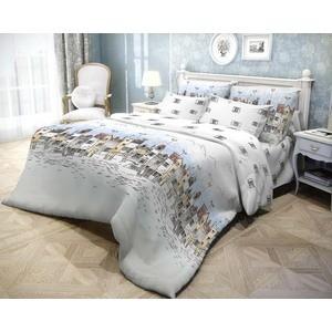 Комплект постельного белья Волшебная ночь 1,5 сп, ранфорс, Город с наволочками 50x70 (183796)