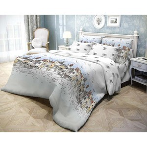 Комплект постельного белья Волшебная ночь 2-х сп, ранфорс, Город с наволочками 70x70 (183797)