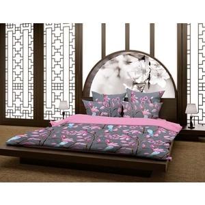 Комплект постельного белья Волшебная ночь 1,5 сп, сатин, Магнолия с наволочками 70x70 (188403)