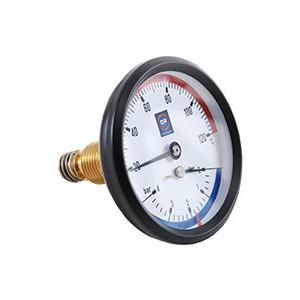 Термоманометр Officine Rigamonti ф80. 0..4 бар 0..120 град 1/2 0508.001 торцевой