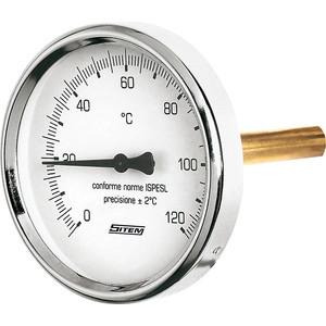 Термометр Sitem ф80. 0..120 град 1/2х100 мм радиальный