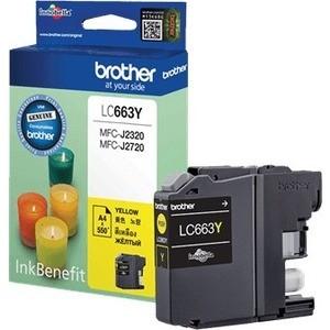 Картридж Brother LC663Y 550 стр. картридж для струйных аппаратов brother lc663y lc663y