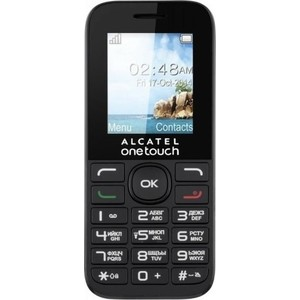Мобильный телефон Alcatel One Touch 1016D Volcano Black alcatel one touch 6039y idol 3 mini grey