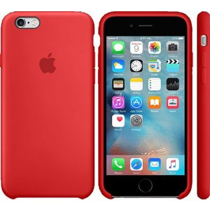 Чехол Apple iPhone 6 Plus-6s Plus Silicone Case Red (MKXM2ZM/A)