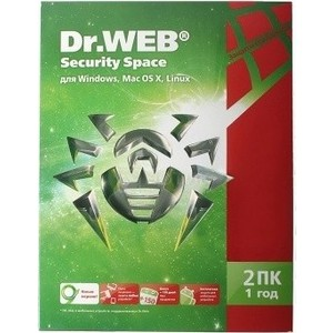 ����������� ������� Dr.Web Security Space BHW-B-12M-2-A3 ��������������� ���� 2 �� �� 1���