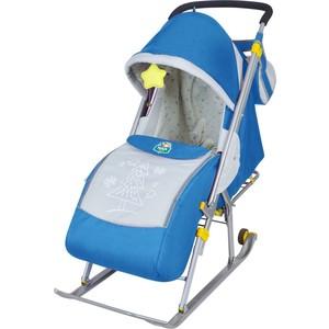 Санки-коляска Ника Детям 4 (синий)
