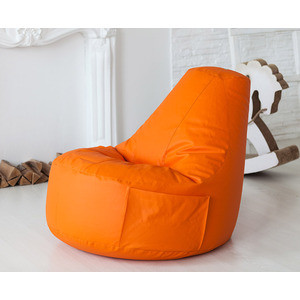 Кресло-мешок Bean-bag Comfort orange экокожа цена
