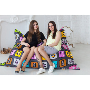Кресло-мешок Bean-bag Подушка - Play plush bag female hand chain all match satchel bag