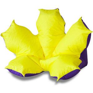 Кресло-мешок Bean-bag Цветок желто-фиолетовый оксфорд makeup organizer travel bag women cosmetic bags summer dumpling clutch women packages waterproof cosmetic bag handbag