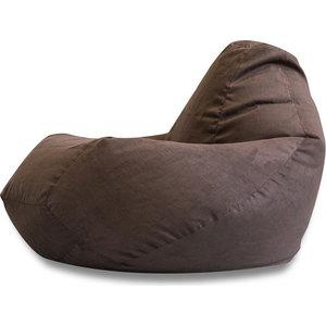 Кресло-мешок DreamBag Коричневая искусственная замша XL