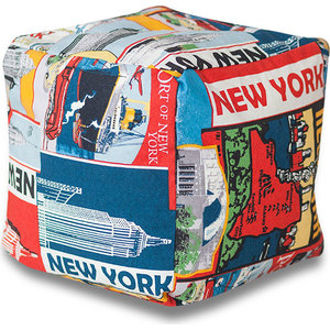 Пуф DreamBag Кубик New York maxel g 99 1005250348