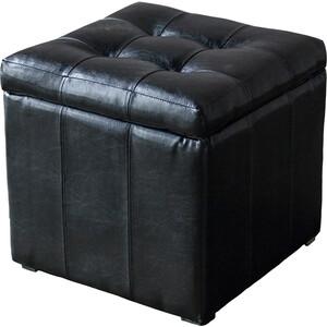 Пуф DreamBag Модерна черная кожа пуф dreambag кубик new york