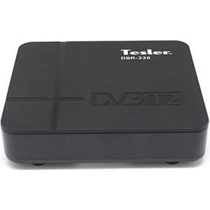 Тюнер DVB-T2 Tesler DSR-330 цифровой телевизионный dvb t2 ресивер tesler dsr 320