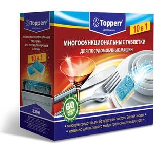 Аксессуар Topperr 3306 Таблетки для посудомоечных машин 10в1,60шт. topperr таблетки для п м topperr 3306