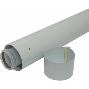 Труба Vaillant удлинительная DN 60/100 длиной 2000 мм в комплекте с хомутом (303803) vaillant труба dn 80 2 0м белая