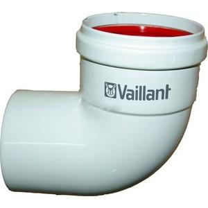 Отвод Vaillant 90 град DN 80 с уплотнением из силикона труба vaillant удлинительная dn 80 длиной 500 мм с уплотнением из силикона 300833
