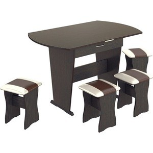 Обеденная группа ТриЯ Тип 2 венге, санчо коричневый спальный гарнитур трия саванна к1