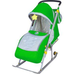 Санки-коляска Ника Детям НД4 (зеленый) детские санки коляска ника детям 7 4 мятный