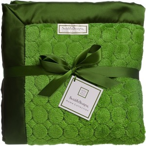 Плед SwaddleDesigns Pure Green Puff Circles (SD-311PG)